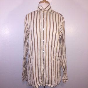 Ermenegildo Zegna men's striped button down shirt